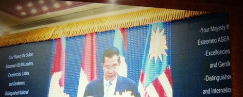 The First Cambodia Big LED Display Rental For Government Project